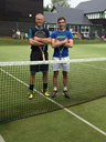 Open Men's Singles: Alex Wilkins (right) beat David Brown
