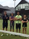 Open Mixed Doubles: Sofie Woon & Adam Rider (left) beat Victoria Lapthorne & Mat Parry