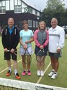 Restricted Mixed Doubles: Matt Waters & Sue Bowden (left) beat Peter Smith & Lesley Bowling